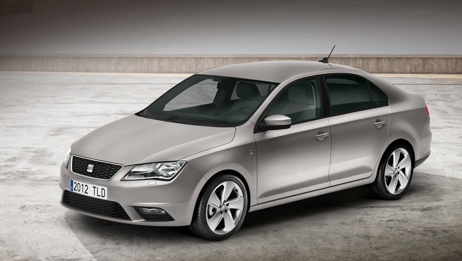 Seat toledo. Анфас автомобиль однозначно идентифицируется как Seat. Отрадно, что отличия достаточно заметны в сравнении с родственной моделью Skoda Rapid.