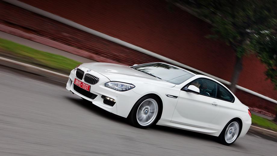 Bmw 6. В России купе BMW шестой серии доступно с тремя моторами. Исполнение 640i комплектуется рядной «турбошестёркой» 3.0 (320 л.с.), модификация 640d — битурбодизелем 3.0 (313), а 650i — «восьмёркой» с двумя турбокомпрессорами (407). Полноприводными могут быть дизельная и восьмицилиндровая версии.