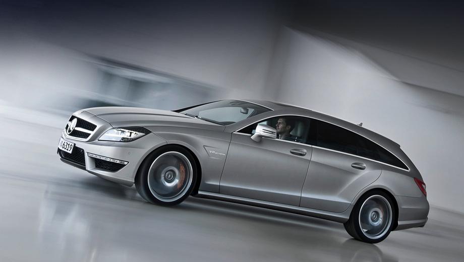 Mercedes cls amg,Mercedes cls,Mercedes cls shooting brake. Стандартные колёса — с шинами размерностью 235/35 R19 спереди и 285/30 R19 сзади. По умолчанию автомобиль оснащён вентилируемыми тормозами с чугунными перфорированными дисками (диаметр спереди — 360 мм), а за доплату есть карбонокерамика.