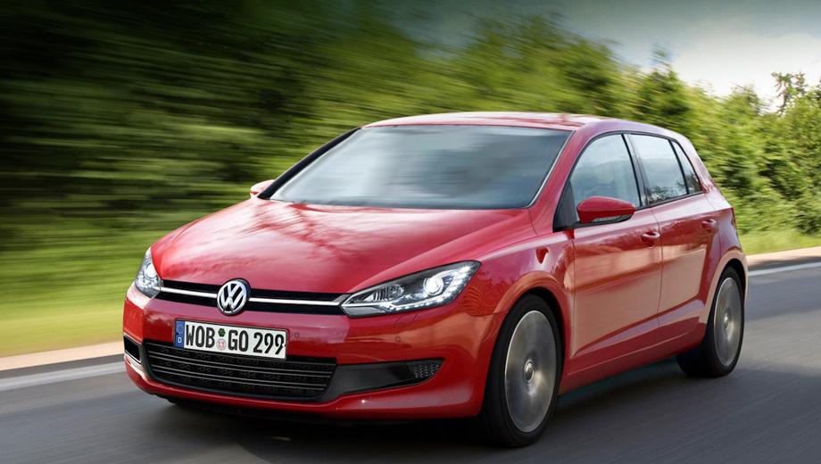 Volkswagen golf. Ввиду отсутствия официальных изображений перед вами — один из многочисленных рендеров, подготовленных коллегами из зарубежного издания.