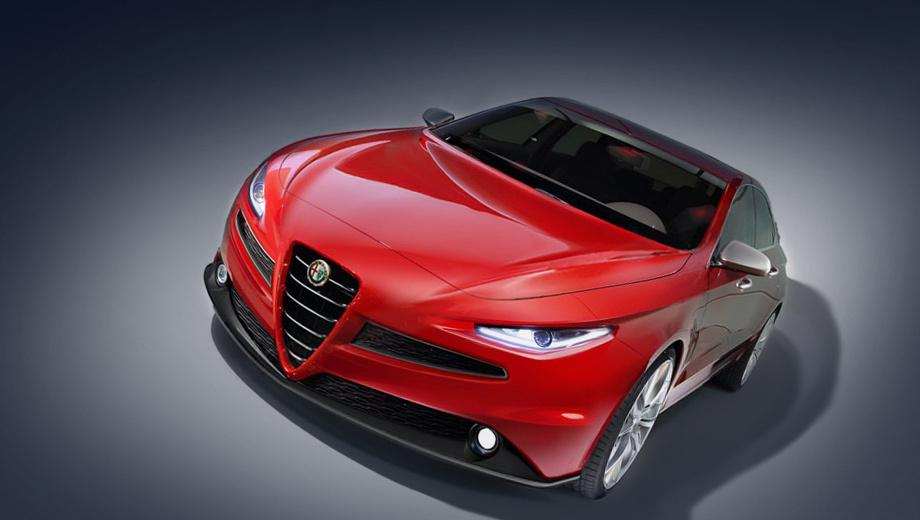 Alfaromeo giulia. Этот рендер подготовлен фоторедакторами английской версии журнала Car.