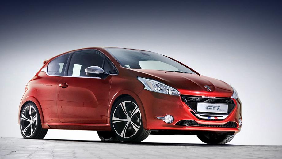 Peugeot 208 gti. На фотографии — концепт полугодовой давности. Серийная машина будет точной копией шоу-кара.