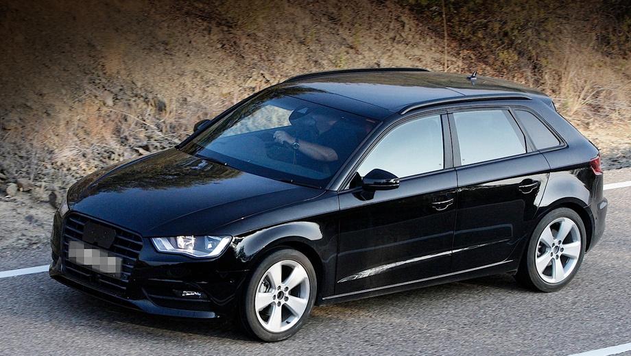 Audi a3. Автомобиль шпионерам удалось запечатлеть без камуфляжа. Оно и понятно: как будет выглядеть новинка, вполне предсказуемо было и так.