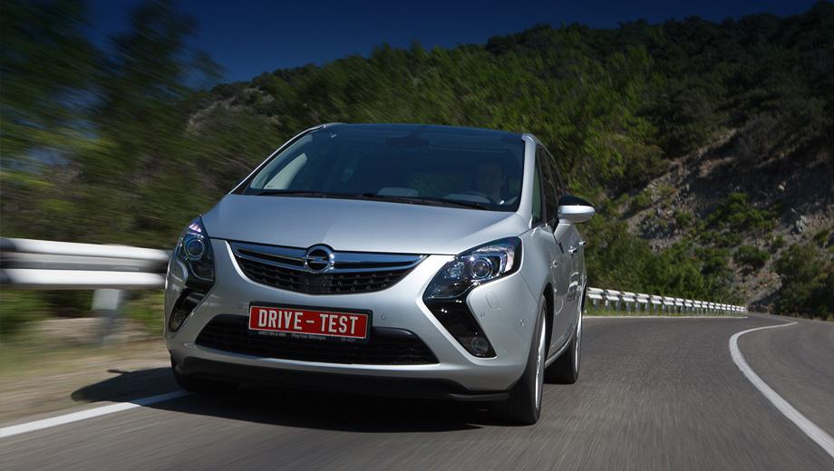 Opel zafira tourer,Opel zafira. Перед минивэна Opel Zafia Tourer решён в стилистике модели Ampera. Однако выразительные «бумеранги» не станут новым корпоративным лицом марки.