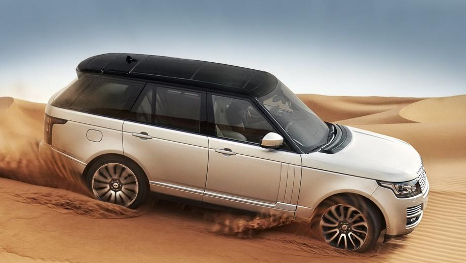 Land rover range rover. Флагманский внедорожник Range Rover сохранил узнаваемые черты в экстерьере. Он выглядит стремительнее и спортивнее предшественника за счёт более покатой крыши.