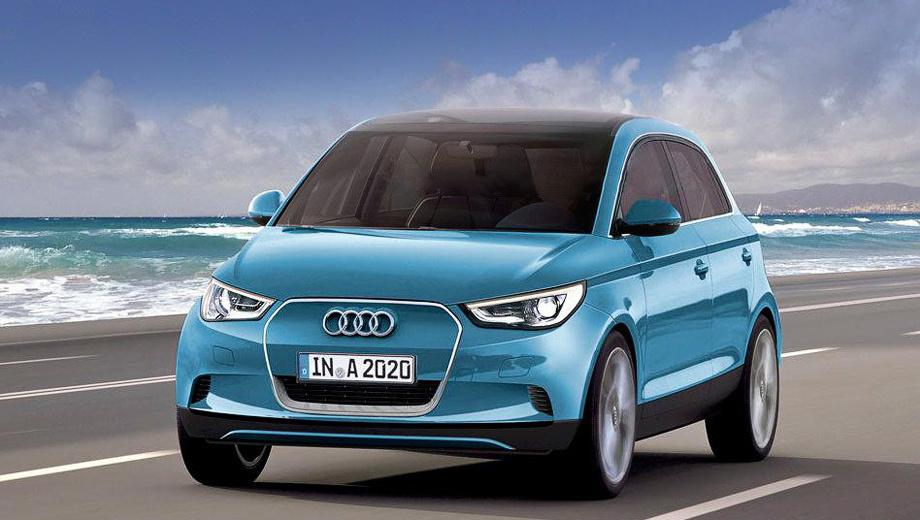Audi a2. Пока нет официальных изображений пятидверки. Это рендеры, подготовленные коллегами из зарубежных изданий.