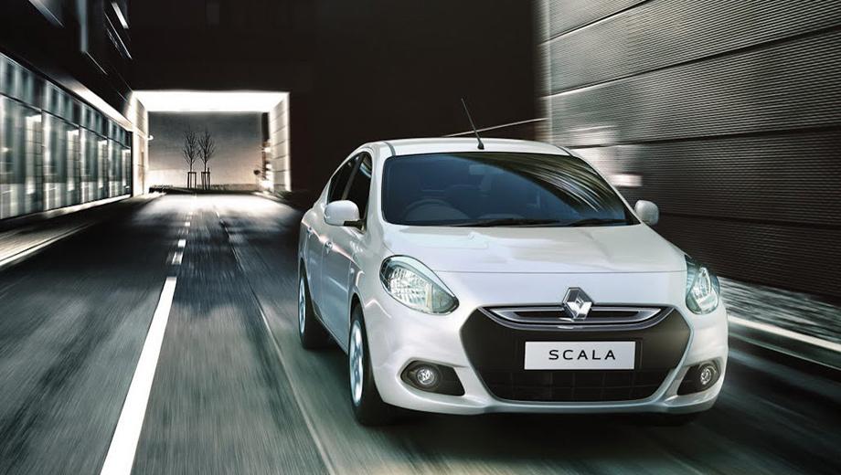 Renault scala. Седан Renault Scala, который в снаряжённом состоянии весит от 1005 до 1085 кг, комплектуется изначально задними барабанными тормозами и стальными штампованными дисками диаметром 14 дюймов. Литые 15-дюймовые колёса — за доплату.
