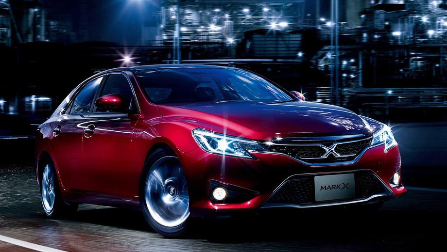 Toyota mark x. Как и прежде, автомобиль можно заказать как с задним, так и с полным приводом.