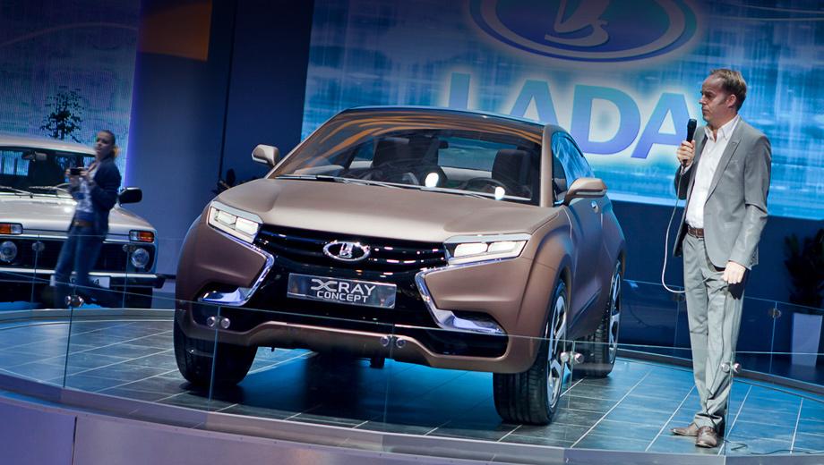 Lada xray,Lada concept. В переводе XRAY означает «рентгеновские лучи». Буква X в названии — это ещё и отсылка к вседорожным возможностям автомобиля, и главный элемент нового дизайна. Стив Маттин, создавший XRAY, до прихода в АвтоВАЗ трудился на Mercedes и на Volvo.
