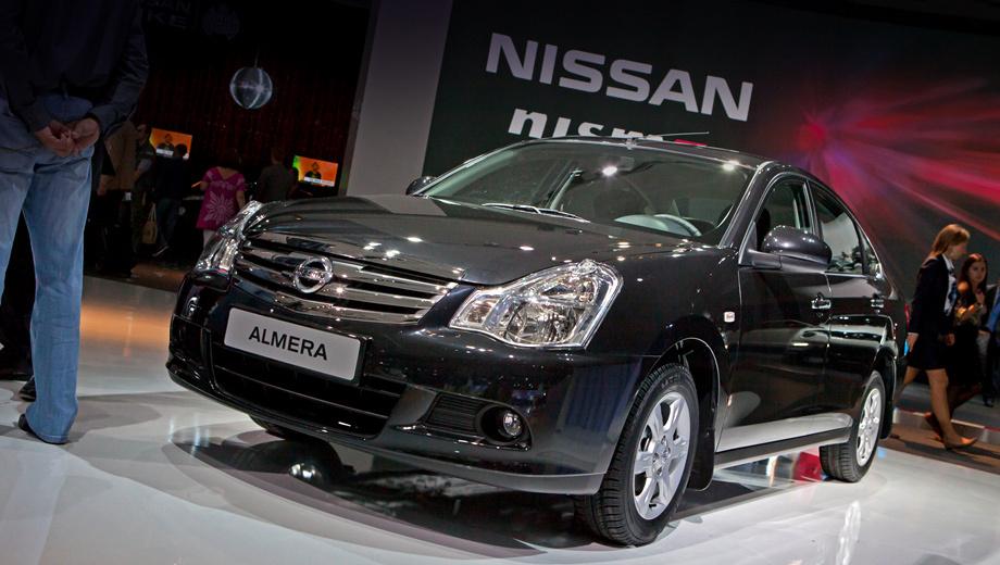 Nissan almera. Модель Nissan Almera, построенная на базе седана Nissan Bluebird Sylphy образца 2005 года, обладает багажником объёмом 500 л.