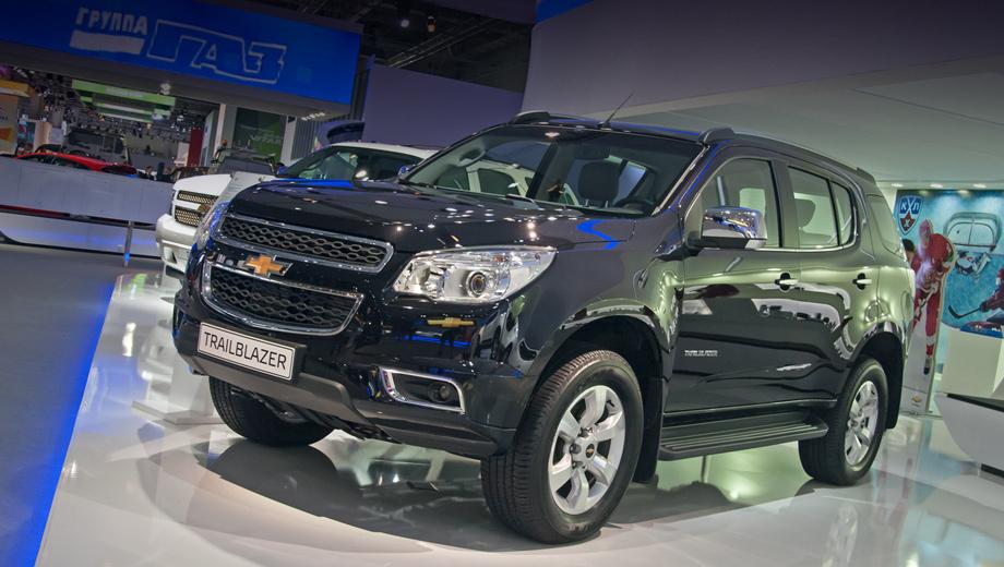 Chevrolet trailblazer,Chevrolet colorado. Внедорожник Trailblazer (на фото) и пикап Colorado со 175-сильными моторами достигают сотни за одинаковое время — 12,5 с.