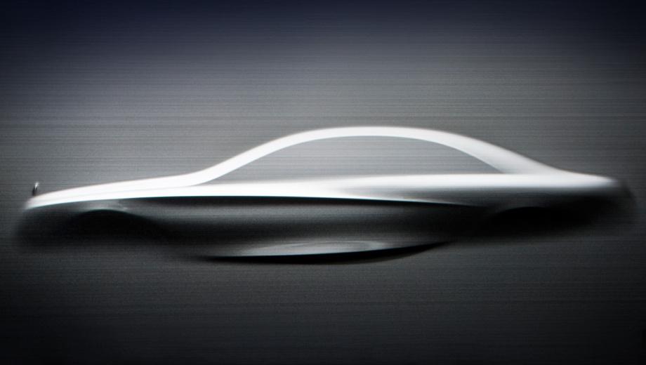 Mercedes s. Главное, что можно узнать из этих изображений: как новая четырёхдверка будет выглядеть в профиль.
