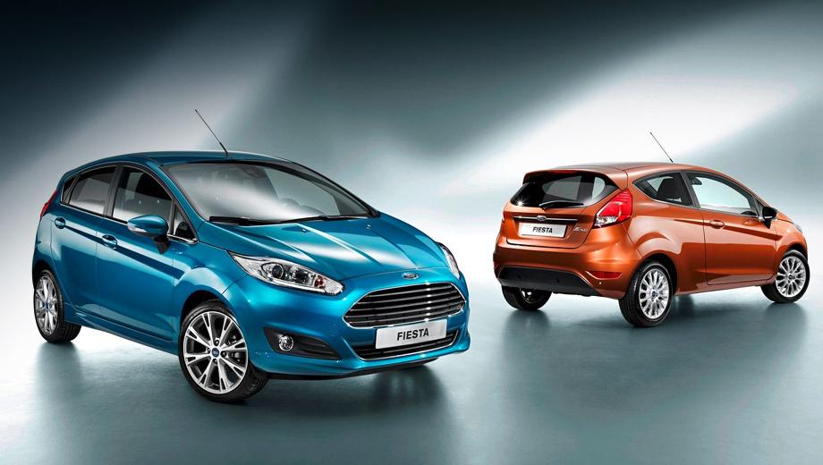 Ford fiesta. Главное новшество — фирменная решётка радиатора, такая же, как у семейства Ford Focus.