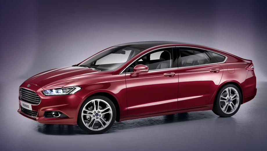 Ford mondeo. Внешность европейского седана — точная копия модели Ford Fusion, чего не скажешь о начинке. Для Мондео припасли иные варианты двигателей.