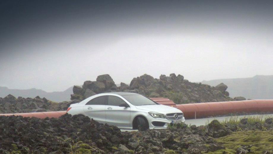 Mercedes cla. По неофициальным данным, в длину седан достигает 4,6 м.