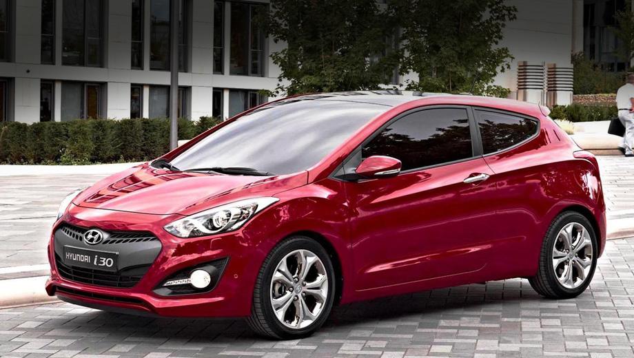 Hyundai i30. Как и ожидалось, хэтчбек выглядит спортивнее и динамичнее своего пятидверного «собрата».