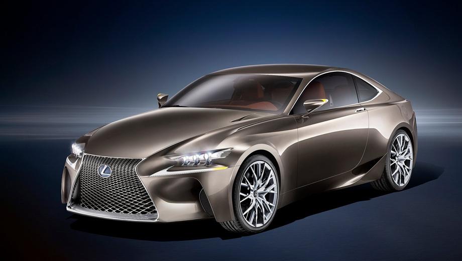 Lexus lf-cc,Lexus concept. Новый концепт окрашен в уникальный цвет Fluid Titanium, благодаря которому особенно чётко видны грани купе.