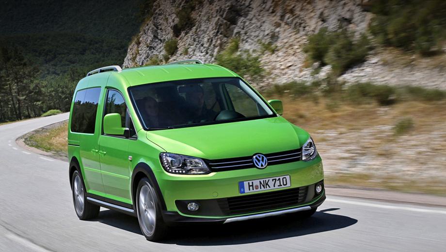 Volkswagen caddy. Ядовито-зелёный окрас Viper Green, знакомый по Scirocco, 17-дюймовые легкосплавные диски и лихой обвес будут сворачивать шеи посетителям международного смотра коммерческих автомобилей IAA, который пройдёт с 20 по 27 сентября в Ганновере.