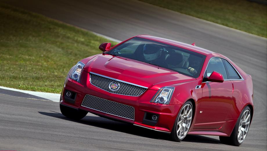 Cadillac cts-v. Комплектация купе предусматривает адаптивную подвеску Magnetic Ride Control и спортивные тормоза Brembo, 19-дюймовые алюминиевые диски (в двух вариантах: покрашенные или отполированные вручную) и шины Michelin Pilot Sport 2.