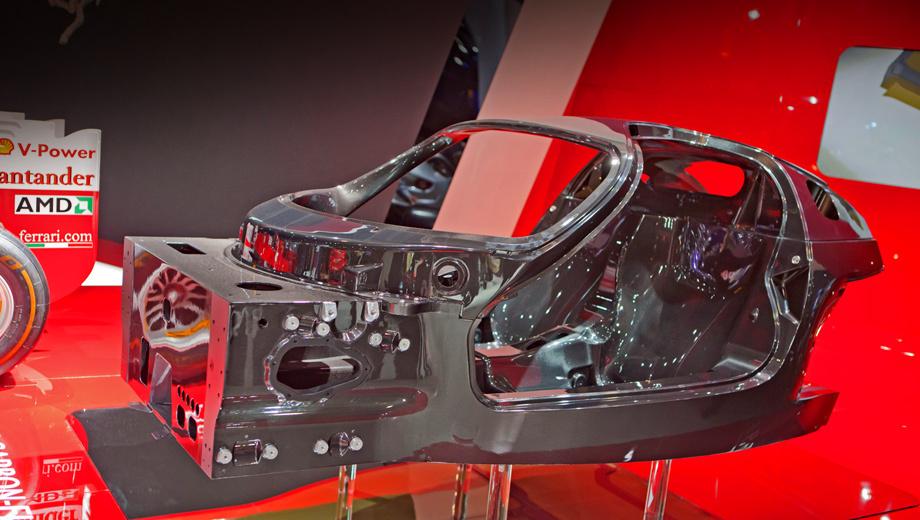 Ferrari f70. Основа F70 настолько легка, что её без труда поднимут два человека.