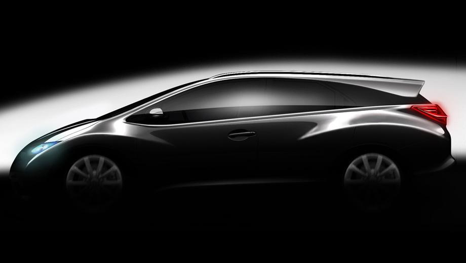 Honda civic. Для показа модели New Civic Wagon в следующем году хондовцы, скорее всего, выберут либо Женевское мотор-шоу в марте, либо автосалон во Франкфурте в сентябре.