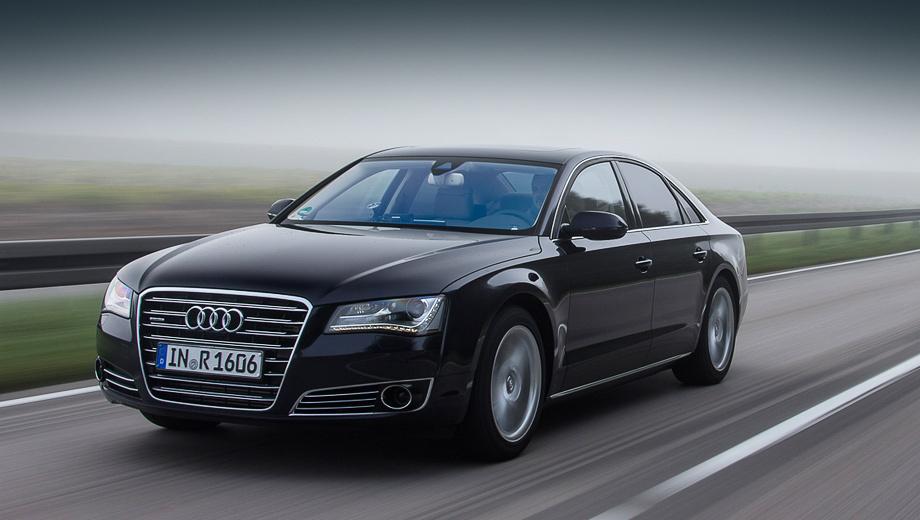 Audi a1,Audi a6,Audi a8,Audi a1 e-tron,Audi r8 e-tron. Безмолвно выныривающий из тумана флагман Audi удивит неподготовленного человека. Этот автомобиль способен некоторое время двигаться почти бесшумно, хотя не является гибридом или электромобилем.