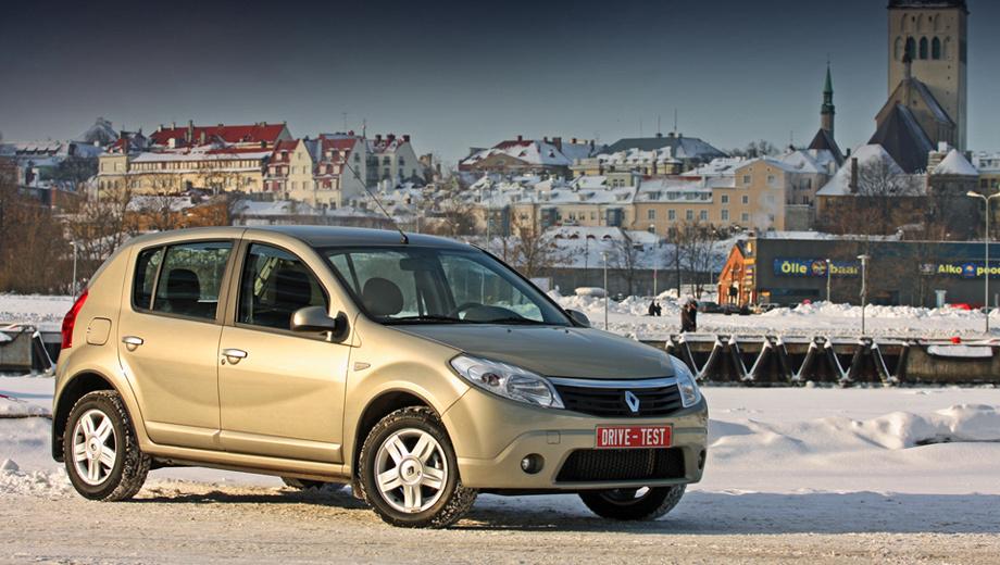 Renault sandero. За два года с начала выпуска общемировой тираж Sandero преодолел трёхсоттысячный рубеж. Теперь и в России — от 319 тысяч рублей. Кстати, самый крупный рынок для модели в 2009 году — Германия.