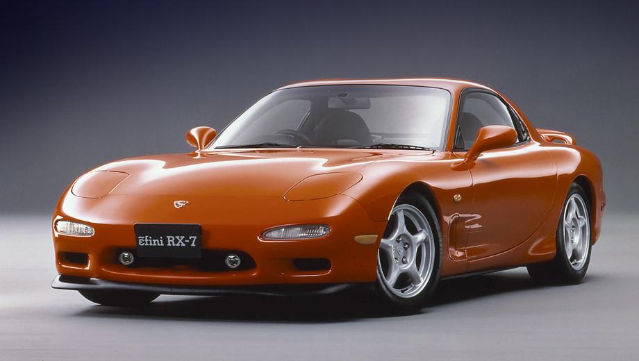 Mazda rx7. В своей последней ипостаси Mazda RX-7 (серия FD) оснащалась роторным двигателем 13B мощностью от 255 до 280 сил. Таких машин было сделано 68 589 штук.