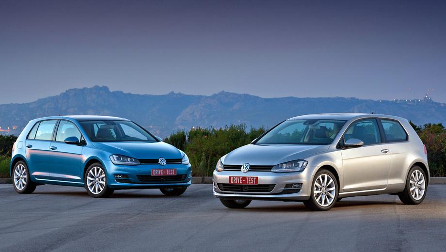 Volkswagen golf. Это тот случай, когда пятидверная модификация смотрится намного выигрышней трёхдверной. У последней — неестественная оконная линия. В Германии доплата за кузов с пятью дверями — 900 евро.