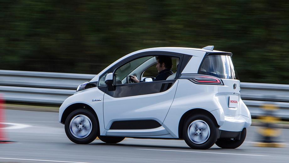 Honda comuter car. Длина микрокара составляет 2500 мм, ширина — 1250, а высота — 1445 мм.