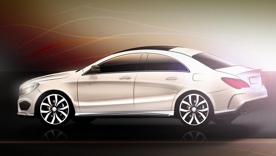 Mercedes cla amg. Официальных изображений «заряженного» седана пока нет. Перед вами рендер, подготовленный изданием Autocar.