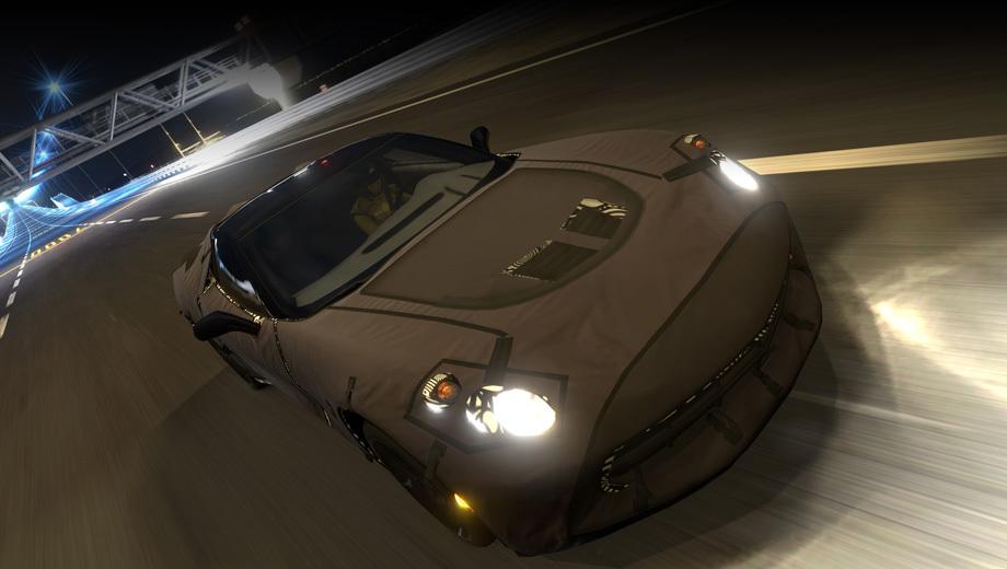 Chevrolet corvette. Новый автомобиль можно загрузить через магазин PlayStation Store.