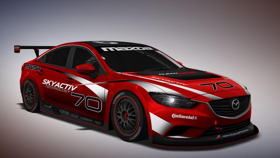 Mazda 6. Пока японцы показали лишь один скетч будущего спортсмена, по которому видно, что «шестёрка» обзаведётся новым аэродинамическим обвесом и большим антикрылом.
