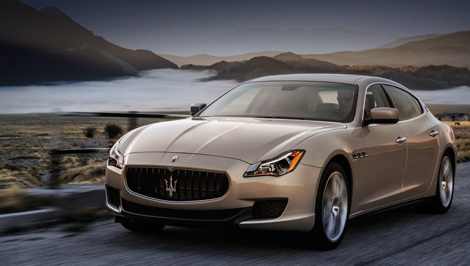 Maserati quattroporte. По сравнению с предшественником новое поколение седана стало на 163 мм длиннее и на 64 мм шире.