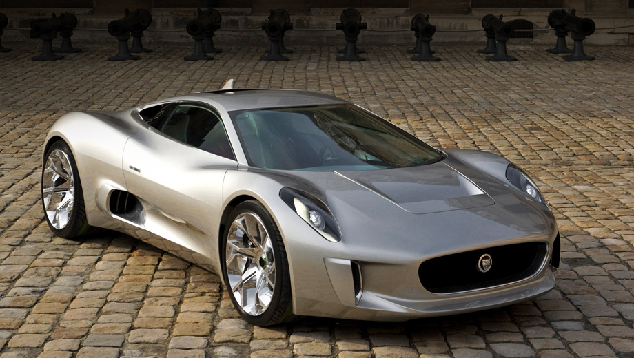Jaguar c-x75. Если бы автомобиль всё же пошёл в серию, его цена составляла бы $1 150 000.