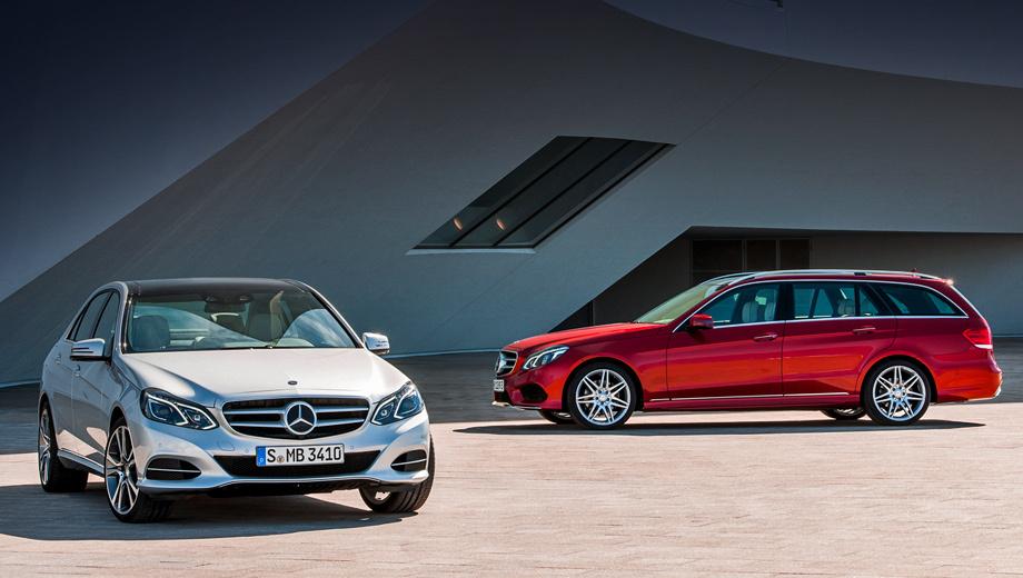 Mercedes e. Мерседесовцы показали обновлённый седан одновременно с универсалом. На фото автомобили с AMG-пакетом.