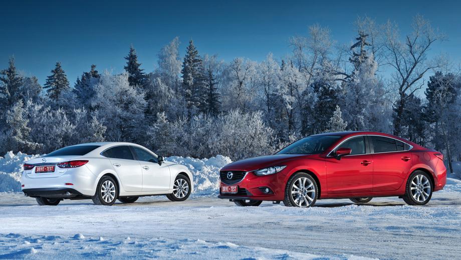 Mazda 6. Продажи новой Мазды 6 стартуют в декабре 2012 года. Цены — от 925 000 до 1 149 000 рублей. Есть ещё фиксированные пакеты оснащения, недоступные базовой версии Drive. С наиболее дорогим пакетом оборудования седан стоит 1 341 000 рублей.