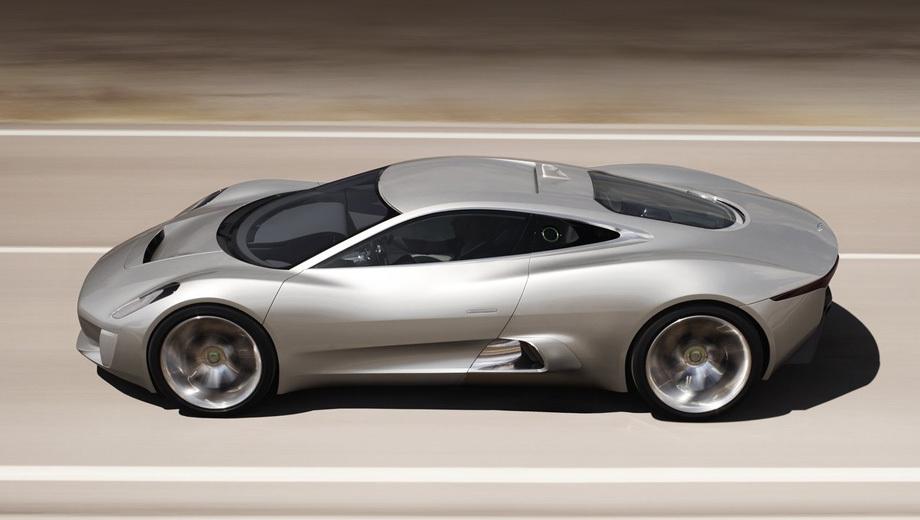 Jaguar c-x75. Первоначальный план предусматривал постройку 250 таких автомобилей.
