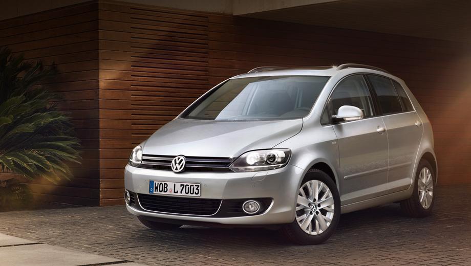 Volkswagen golf plus. Никаких внешних отличий от стандартной модификации модели Volkswagen Golf Plus у версии Life нет. Выдают одни только шильдики.