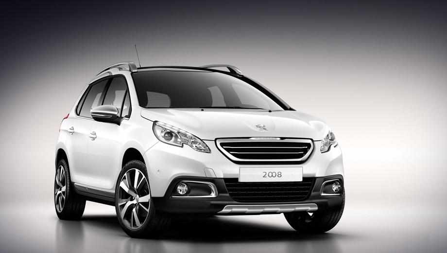 Peugeot 2008. В длину паркетник Peugeot 2008 насчитывает 4160 мм, что на 25 мм больше одного из основных конкурентов новинки — модели Nissan Juke.