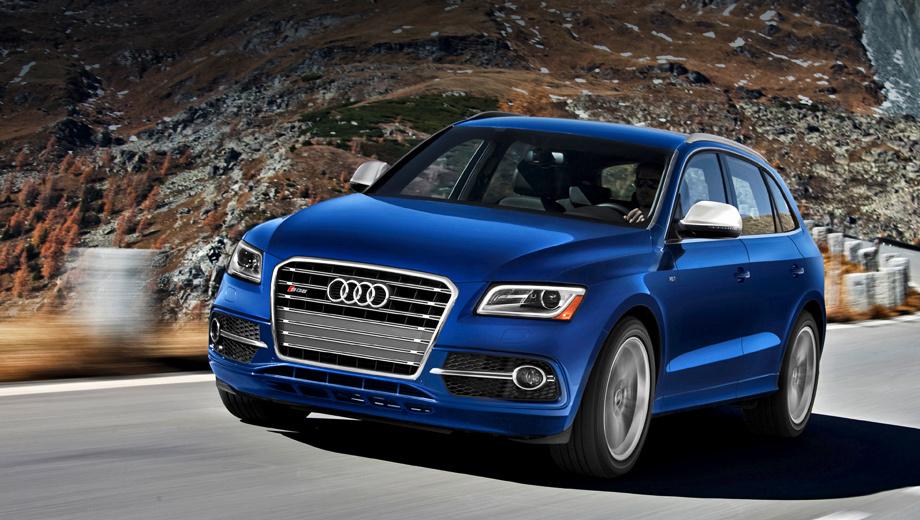 Audi sq5. Модель Audi SQ5 TFSI с 354-сильным мотором создана для рынков Северной и Южной Америки, для стран Азии и Африки, а в Европе она продаваться не будет. Там её место занимает SQ5 TDI.
