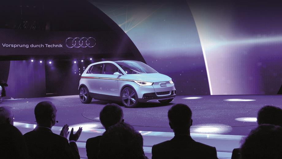Audi a2. На концепте А2 стоял 114-сильный электромотор. Литиевые батареи требовали для подзарядки четыре часа, после чего хэтчбек мог пробежать 200 километров.