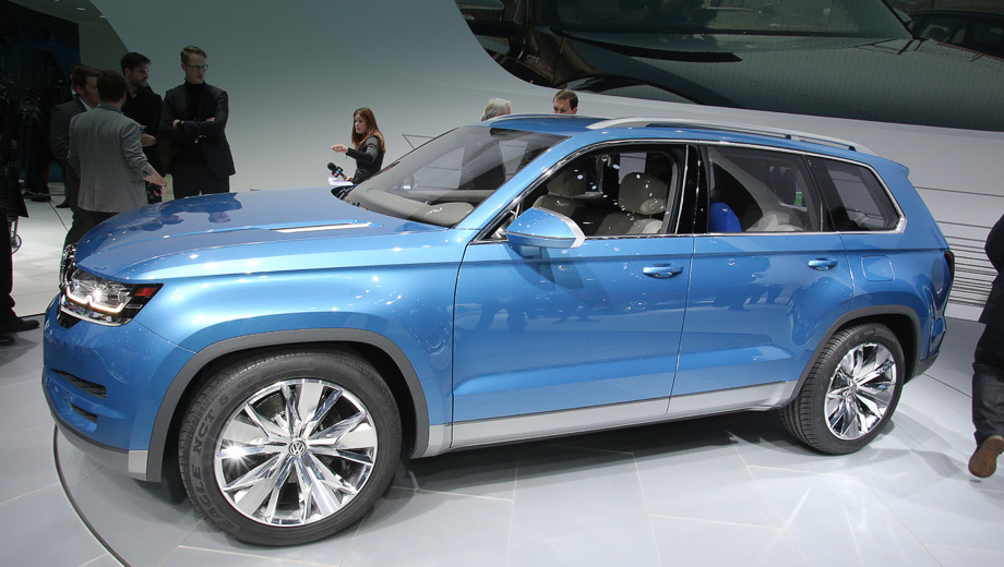 Volkswagen crossblue,Volkswagen concept. Несмотря на то что пока CrossBlue носит статус концепта, внешность внедорожника во многом близка к серийной.