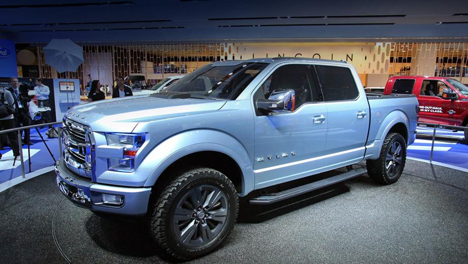 Ford atlas. Концепт-кар Ford Atlas должен показать публике, как будут выглядеть и каким оборудованием смогут похвастаться пикапы концерна в будущем.