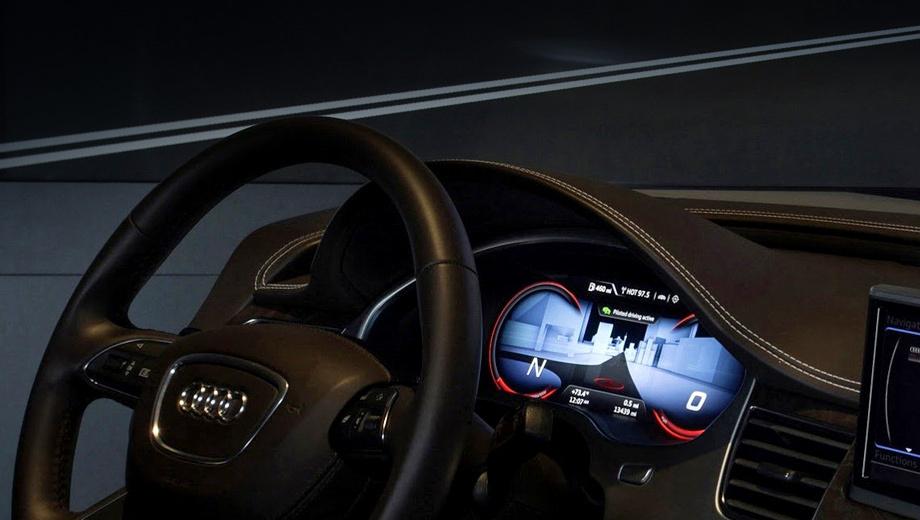 Audi a8. Система автопилота от Audi совсем недорогая: всего несколько сотен долларов США.