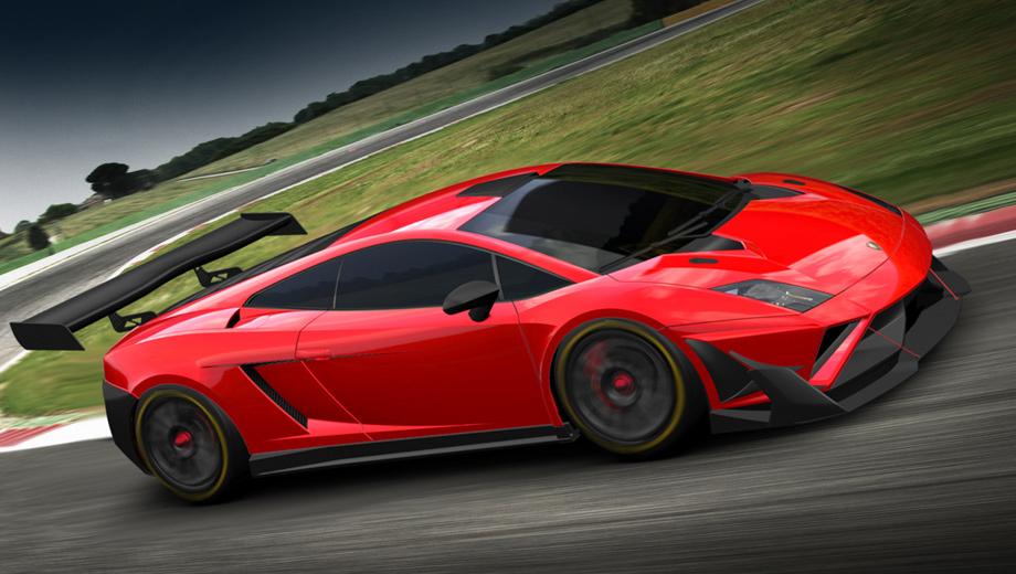 Lamborghini gallardo,Lamborghini gallardo gt3. За основу гоночного автомобиля Gallardo GT3 FL2 взяли купе 2013 модельного года. Аэродинамический обвес получил новый передний сплиттер и заднее антикрыло из углеволокна.