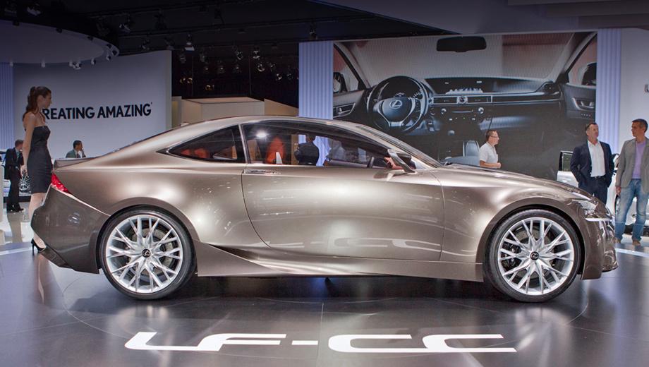 Lexus rc,Lexus rc f. Шоу-кар LF-CC (на снимке) выглядит больше приближенным к производству, чем LF-LC. И неслучайно в СС можно найти черты свежайшего седана IS.