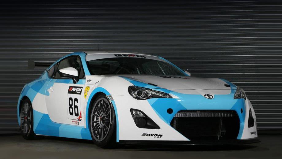 Toyota gt86,Toyota gt86 gt4. Внешне версия GT4 выделяется аэродинамическим обвесом и более развитым задним антикрылом.