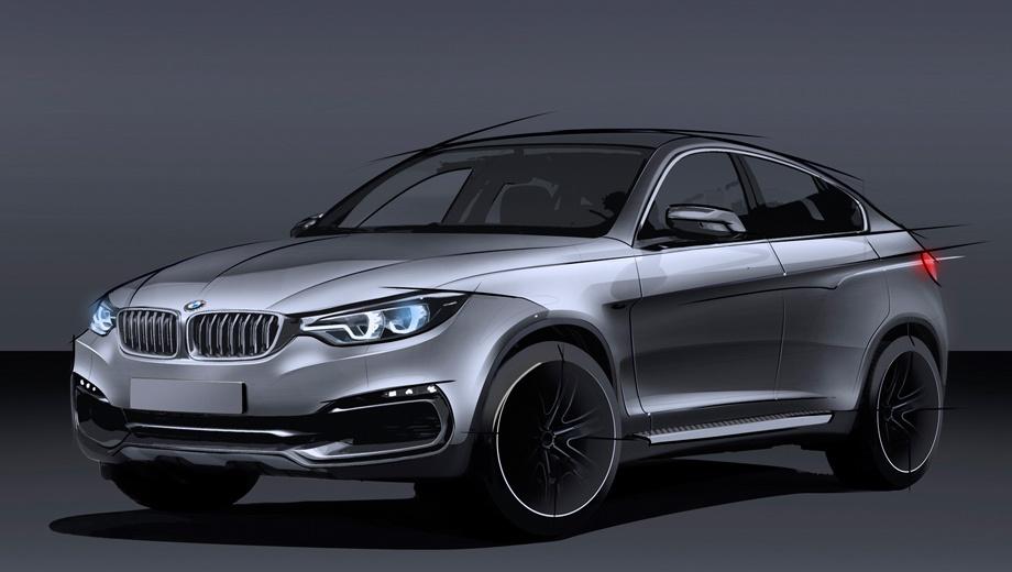 Bmw x6. Пока официальных изображений второго поколения кроссовера BMW X6 нет. Перед вами рендер, подготовленный изданием Autocar.
