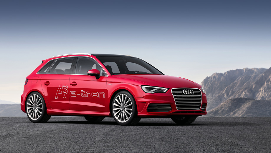 Audi a3,Audi a3 e-tron. Немцы не уточняют, когда именно такая машина (пока ещё концепт) поступит в производство, но начинка тут вся вполне к нему готова.